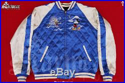 Vtg Japanese Souvenir Sukajan Disney Mickey Mouse Tiger Tokyo Japan 50s Jacket M