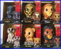 WOOLWORTHS LION KING OOSHIES LARGE BIG LIMITED VINYLS FULL SET 6 inc GOLD SIMBA