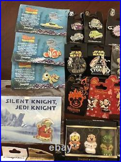 Walt Disney Pins Lot of 40 Pins as Pictured No Duplicates New